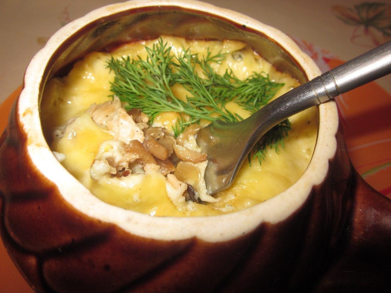 Жюльен из грибов со сметаной